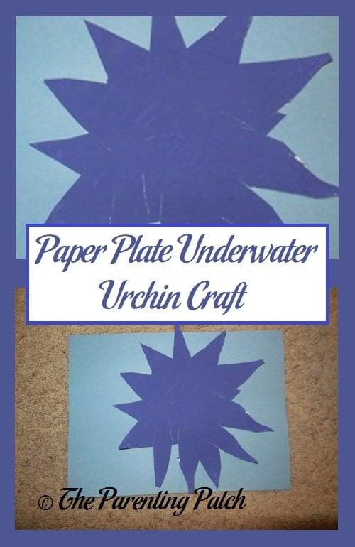 Paper Plate Underwater Urchin Craft