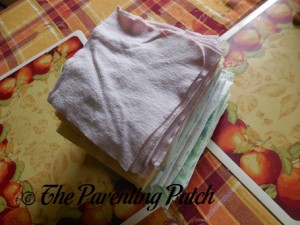 Flannel Wipes with Unfinished Edges