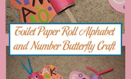 Toilet Paper Roll Alphabet and Number Butterfly Craft