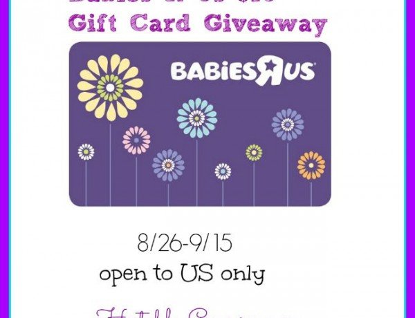 """$75 Babies""""R""""Us Gift Card Giveaway"""