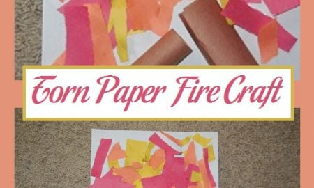Torn Paper Fire Craft