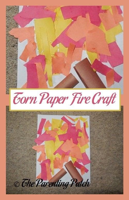 beste plaats beste schoenen premium selectie Torn Paper Fire Craft | Parenting Patch