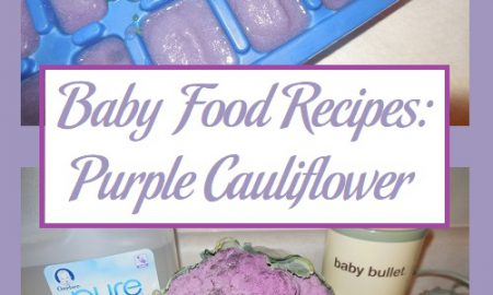 Baby Food Recipes: Purple Cauliflower