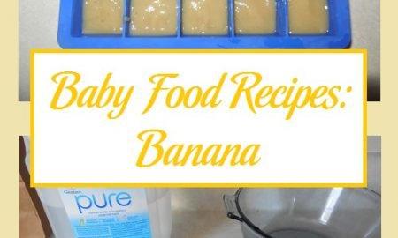 Baby Food Recipes: Banana