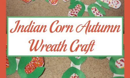 Indian Corn Autumn Wreath Craft