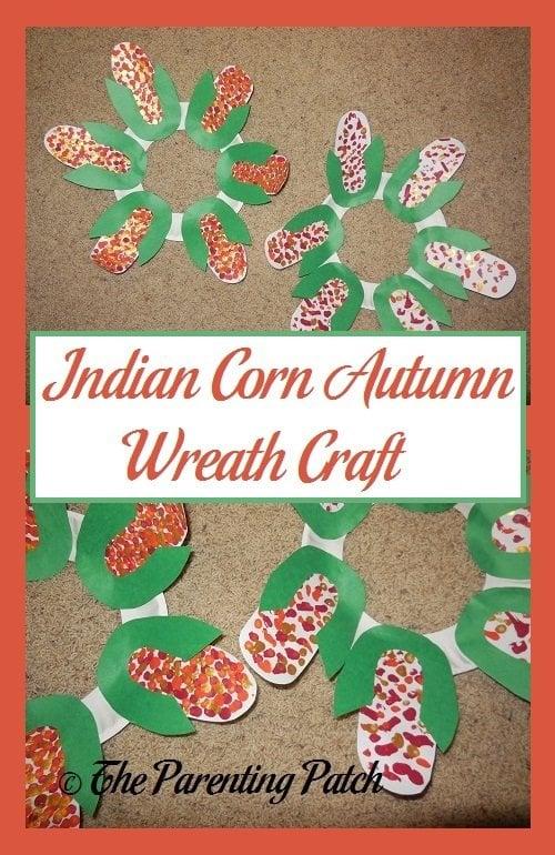 Indian Corn Autumn Wreath Craft
