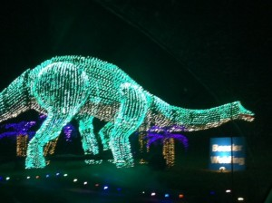 Christmas Light Dinosaur
