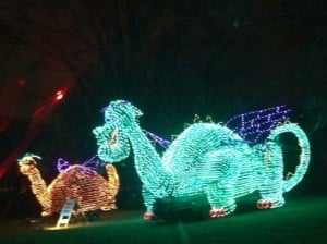 Christmas Light Dragons