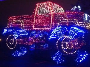 Christmas Light Monster Truck
