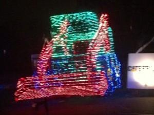 Christmas Light Front Loader