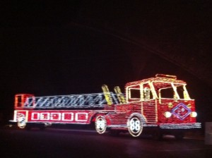 Christmas Light Fire Engine