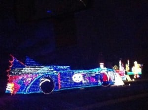 Christmas Light Batmobile