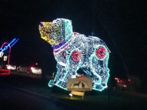 Christmas Light Toy Dog