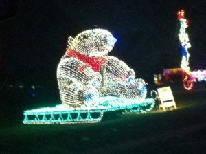Christmas Light Polar Bear