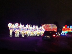 Christmas Light Clydesdale Horses