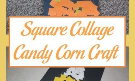 Square Collage Candy Corn Craft