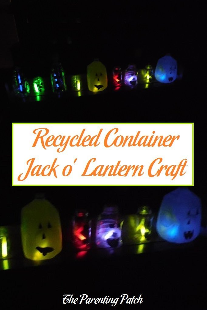 Recycled Container Jack o' Lantern Craft
