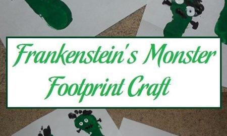 Frankenstein's Monster Footprint Craft