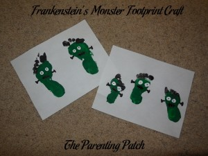 Frankenstein's Monster Footprint Craft