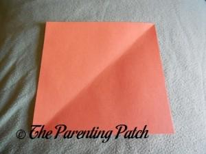 Orange Paper Square