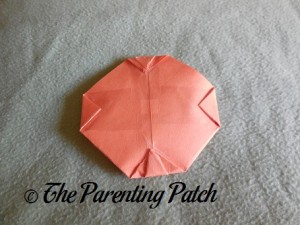 Origami Pumpkin Step 13