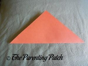 Origami Pumpkin Step 1