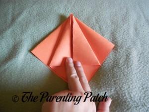 Origami Pumpkin Step 8