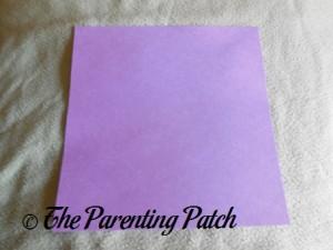 Purple Paper Square