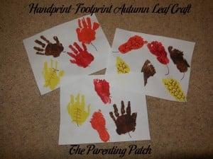 Handprint-Footprint Autumn Leaf Craft 1