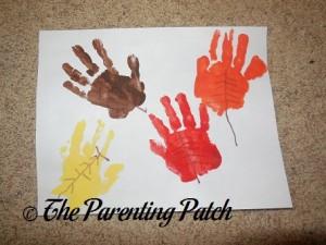 Handprint-Footprint Autumn Leaf Craft 2