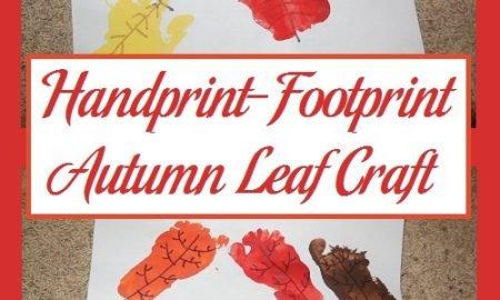 Handprint-Footprint Autumn Leaf Craft