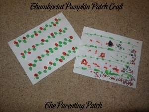 Thumbprint Pumpkin Patch Craft 1