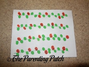 Thumbprint Pumpkin Patch Craft 2