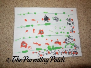 Thumbprint Pumpkin Patch Craft 3
