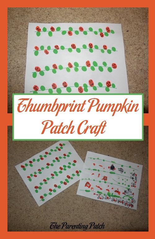 Thumbprint Pumpkin Patch Craft