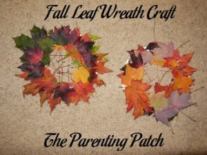Fall Leaf Wreath Craft 1