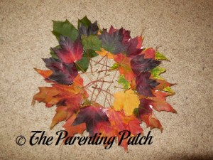 Fall Leaf Wreath Craft 2