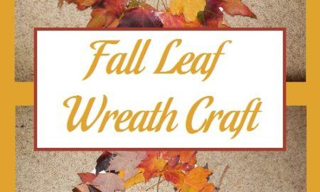 Fall Leaf Wreath Craft