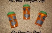 Pill Bottle Pumpkin Craft