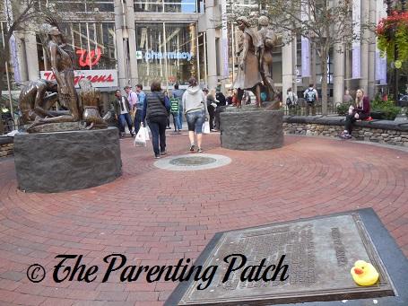 The Duck and the Boston Irish Famine Memorial