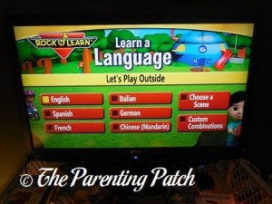 Watching the Rock 'N Learn Learn a Language: Let's Play Outside DVD 1