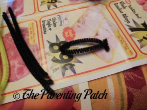 Twisting the Pipe Cleaners into Ovals