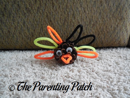 Pinecone and pipe cleaner turkey craft parenting patch for Pipe cleaner turkey craft