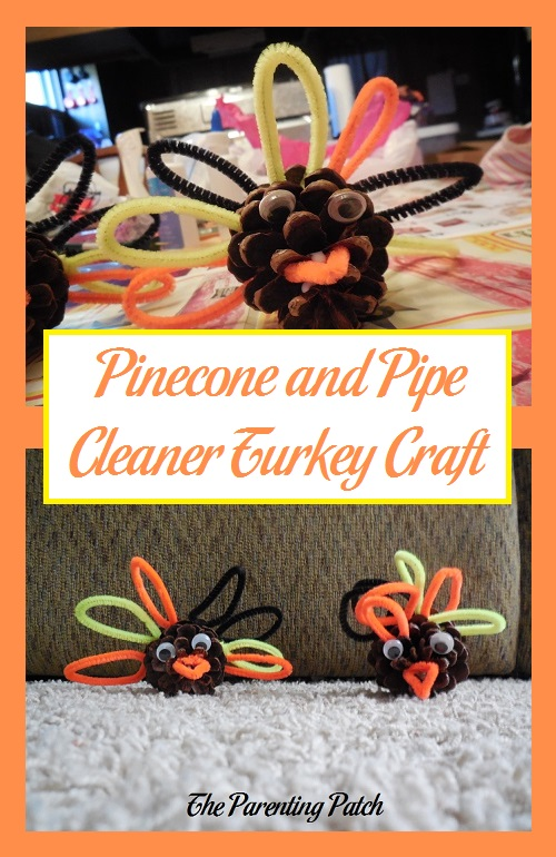 Pinecone and Pipe Cleaner Turkey Craft
