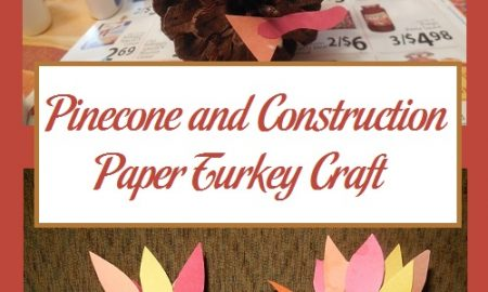 Pinecone and Construction Paper Turkey Craft
