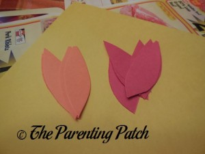 Cutting the Construction Paper into Elongated Ovals