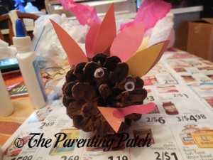 Pinecone and Construction Paper Turkey