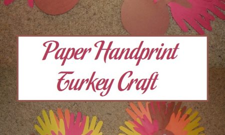 Paper Handprint Turkey Craft
