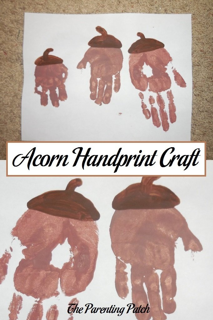 Acorn Handprint Craft