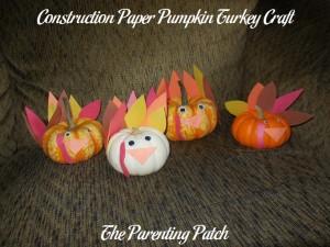 Construction Paper Pumpkin Turkeys